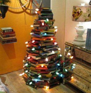 albero di natale coi libri
